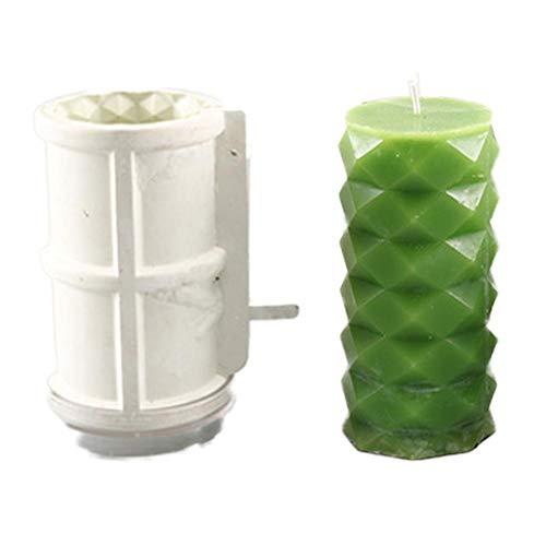 hinffinity Moldes de plástico para Velas de Cera con Forma múltiple, Hecho a Mano, Molde cilíndrico para Velas, Alta Temperatura y Baja Resistencia a la Temperatura, B
