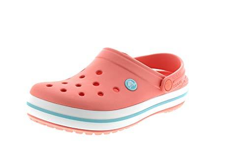 Crocs Crocband Clogs, Zuecos Unisex Adulto, Melon/Ice Blue, 42/43 EU