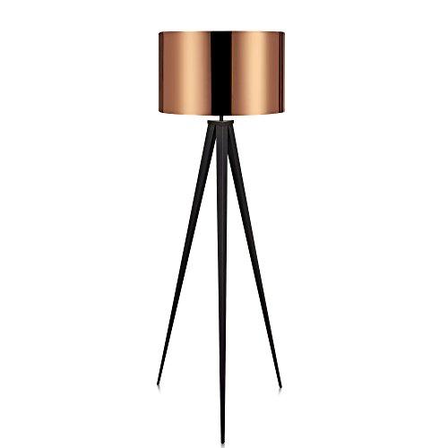 Lámpara de pie vintage , 50 W, Cobre, 50x50x175.5cm