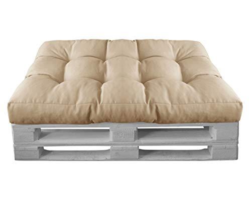 HERLAG Palettenkissen Basic (Sitzpolster, Farbe natur, UV beständig, pflegeleicht, Maße 120x80x15 cm,) P207020-2182