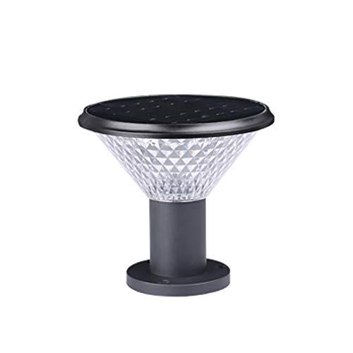 LYXJX Garten Standleuchte Solar LED Outdoor Wege-Leuchte Standleuchte Pollerleuchte Mit Fernbedienung Dimmbar Aussenleuchte Sockelleuchte Pfostenleuchte Hof Zaunpfosten Licht,Blackb