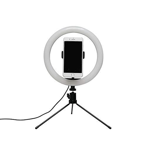 Lupovin Ajuste libre Clip de LED anillo de luz USB interfaz de función Split soporte funcionamiento de la lámpara tabla de variables, regulable maquillaje escritorio anillo de luz for la fotografía, c