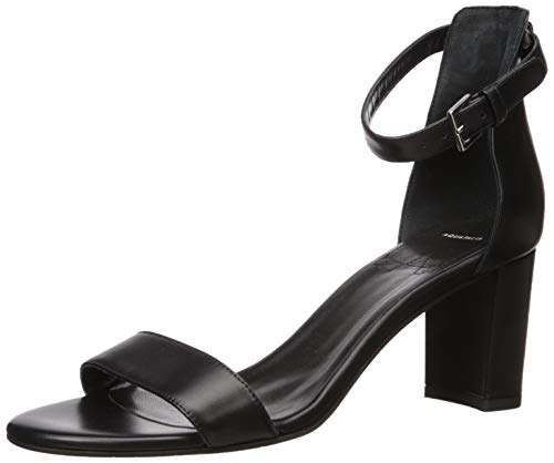 Aquatalia Women's SELENA CALF Heeled Sandal, Black, 7 M US