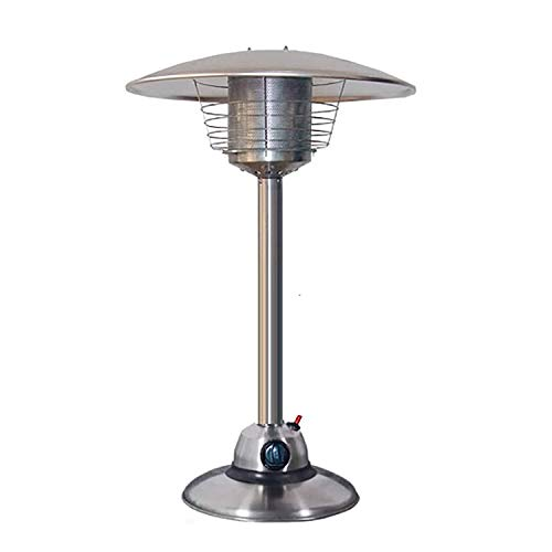 MYRCLMY Table Top Patio Heater, Mini 3KW Portable Umbrella Gas Heater Stainless Steel Garden Comfort Patio Heater Gas Heater Stepless Speed Regulation And Rapid Heating