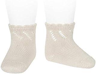 Condor, Calcetines cortos de perlé para bebé con calado diagonal