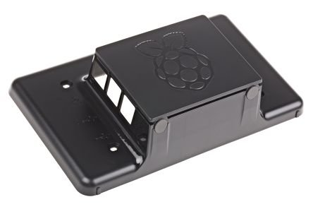 RS Raspberry Pi 7-Inch LCD Touch Screen Case, Black