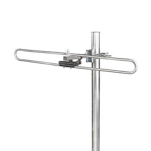 NEDIS Außen DAB + Antenne DAB-Außenantenne | Max. 4 dB Verstärkung | DAB: 170-250 MHz Schwarz/Silber 670 mm