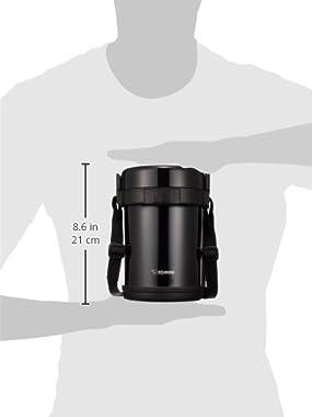 ZOJIRUSHI SL-GH18-BA Heat Insulation Lunch Box Stainless Steel Jar, Black