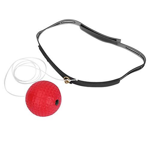 Palla da Boxe con Fascia per Allenamento di Riflesso velocità Boxer Punch Esercizio Pallina(Palla Rossa)