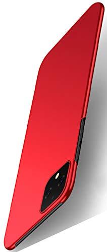 XINFENGDI Carcasa de Movil para Google Pixel 4XL,Funda Protectora 360° Resistente,Capas Robustas Reforzada Duro,Carcasa Trasera Cubierta Forros Seguridad,Antideslizamiento Antigolpes-Rojo