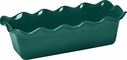 Emile Henry Made In France Ruffled Loaf Pan, 12.5' by 6' by 4', Blue Flame