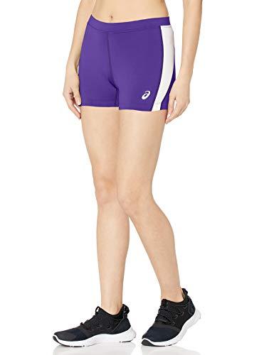 ASICS - Pantalón Corto para Mujer, Mujer, Color Violeta y Blanco, tamaño XX-Small
