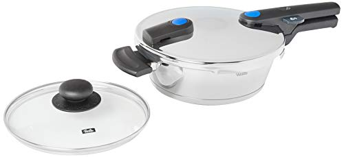 Fissler vitaquick Pressure-Skilet with Glass Lid Stainless Steel Induction, 2.7 Quart