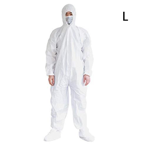 smileyshy Schutzkleidung, Einweg-Arbeitskleidung Schutzkleidung Malerei Polnische Epidemie Fortpflanzungsenzym Badoverall Kapuze L-3XL