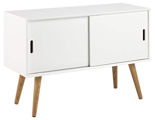 AC Design Furniture Kommode Mariela, B: 100 T: 38 H: 68,2 cm, Holz, Weiss