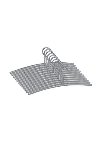 Momex 12 Stück Kleiderbügel Edelstahl, Jackenbügel besonders stabil & gleichzeitig sehr leicht Metall Garderobenbügel