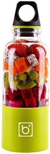 YXZQ Entsafter, Fruchtentsafter Elektro, 500 ml 4-Blatt-Mixer Entsafter Maschinenmischer Elektro-Mini-USB-Küchenmaschine Entsafter Cup Maker Juice, Grün