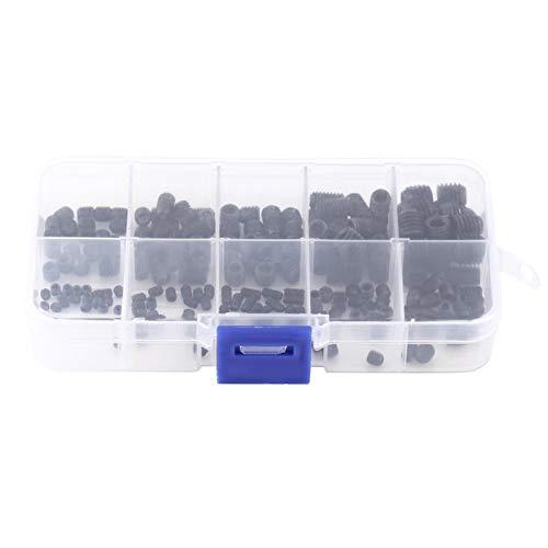 Set Screw - 200pcs Hex Socket Head Grub Set Screw Cup Point Assortment Kit with Box