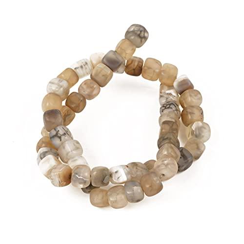 YSJJJBR Piedra Natural Venta al por Mayor 16 Colores Piedra Natural Dragón Dragón Dragón Beads Flow Beads 8mm 50pcs Mano DIY Collar Pulsera (Artikeldurchmesser : 8mm(About 50pcs), Farbe : ZFX FH014)