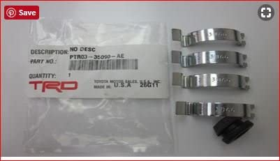 Genuine Toyota Parts PTR03-35090-AE Animer Quality inspection and price revision Hardware Kit TRD