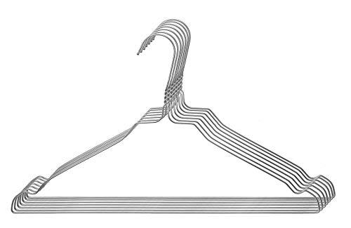 Skippys Skippys 100 Drahtbügel Silber Draht-Kleiderbügel Bild