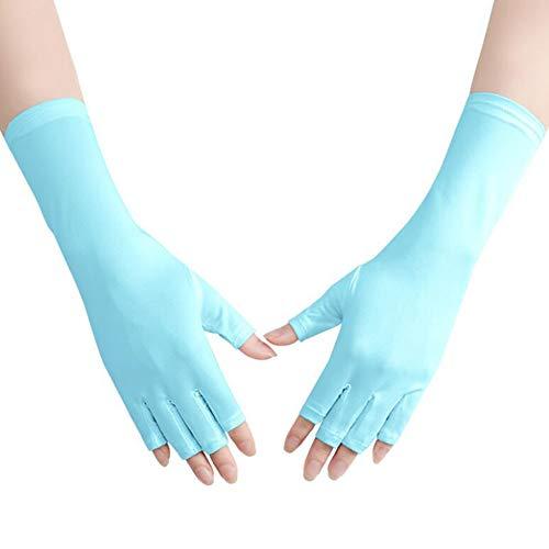 Asudaro UV-handschoenen, 1 paar UV-beschermende handschoenen, gel manicurehandschoenen, anti-uv, vingerloze nagelhandschoenen, beschermen de handen tegen uv-licht, lamp, manicuredroger voor nagelkunst, gellak