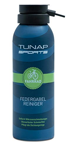 TUNAP SPORTS Fahrrad Federgabel-Reiniger | Spray für Dämpf- und Federelemente am Bike reinigt, pflegt, schmiert (125ml-2020)
