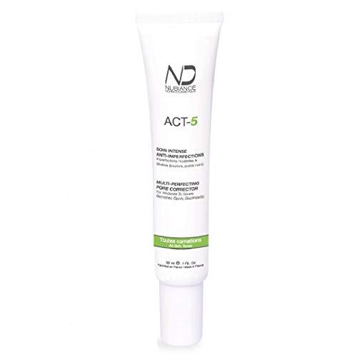 Trattamento per l acne, crema per il viso contro l acne, anti-acne, cura intensa anti-imperfezioni ACT-5-30ml, pelle a tendenza acneica, per adolescenti e adulti MADE IN FRANCE