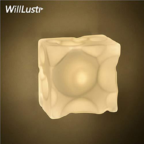 5151BuyWorld Lamp wandlamp van glas, kaas, vierkant, kandelaar, restaurant, hotel, woonkamer, eetkamer, slaapkamer