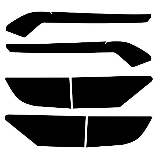 NDRUSH Smoked Light Stickers Kit Overlays Headlight Eyelid Vinyl Tint Film Blackout Tail Light Wrap Cover Compatible with Dodge Durango 2014-2021