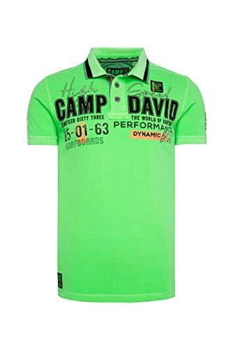 Camp David Herren Pikee-Polo mit Logo-Applikationen