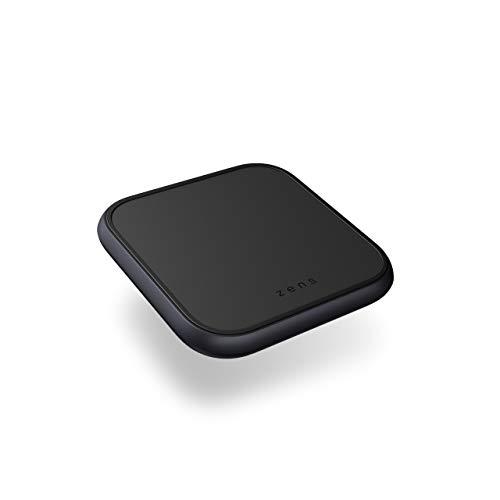 ZENS Qi Certificado Aluminium Wireless Charging Pad, Admite una Carga inalámbrica rápida de hasta 10 vatios - Funciona con Todos los Dispositivos compatibles con Qi