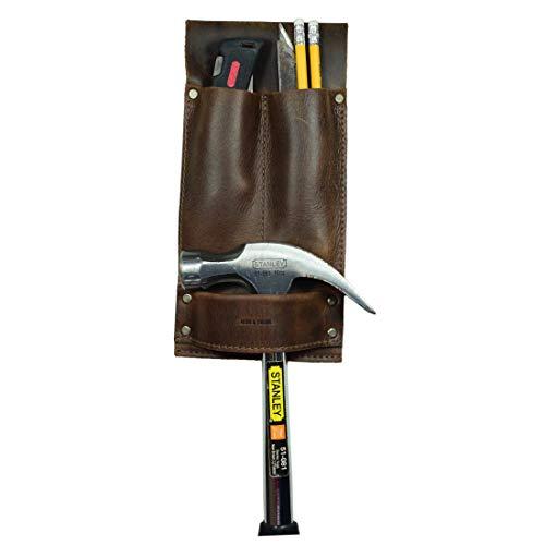Hide & Drink, Leather Tool Holder, Hammer Holster, Woodwork...
