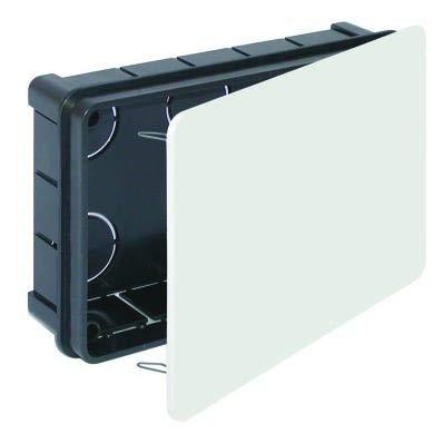 Caja registro electrico empotrar【160x100x50】Con tapa garra metálica