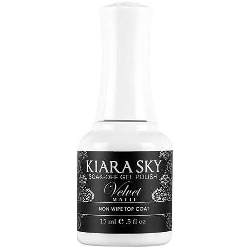 Kiara Sky Velvet Matte Non Wipe Gel Top Coat