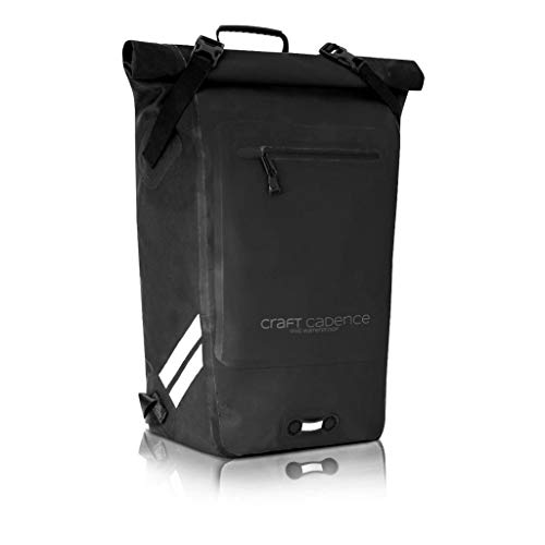 CRAFT CADENCE 30L IPX5 Waterproof Cycling Backpack With Removable Internal Organiser For Laptops and Accessories (Black)