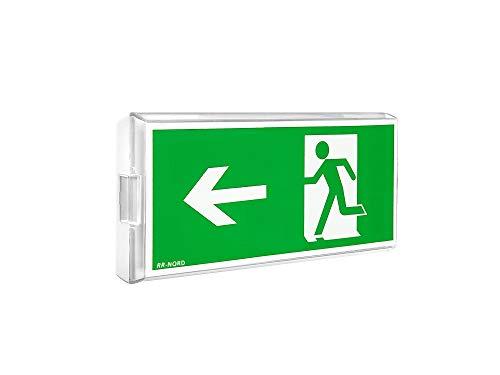 Notleuchte LED Decke Wand Notbeleuchtung Rettungszeichenleuchte Fluchtwegleuchte Notlicht Brandschutzzeichen Rettungszeichen (Not- und Netzbetrieb: Pfeil nach unten)