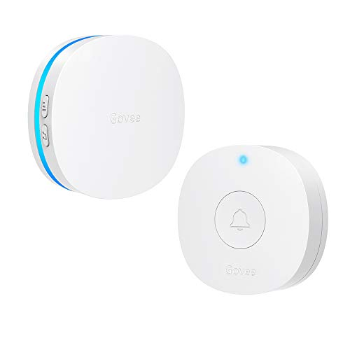 Govee Upgraded Wireless Doorbell, IP66 Waterproof Door Bell Chime Operating at 1000 Feet with 36 Melodies 5 Volume Levels & LED Flash Doorbell kit for Home Office School