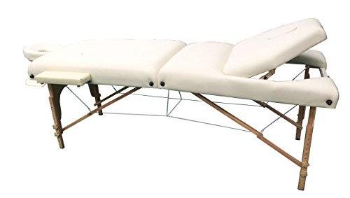 "Heaven Massage Premium 4"" Pad Reiki Portable Massage Table With Carry Case (Cream)"