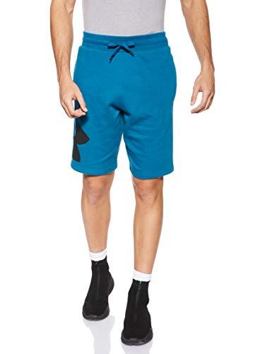 Under Armour Herren Rival Fleece Logo Sweatshort komfortable Sporthose aus robustem Material, Kurze Hose mit Loser Passform und Seitentaschen, Grün, Medium