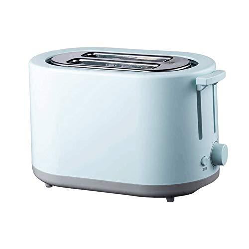 Z-Color Tostadora 2 Rebanada, tragamonedas súper Amplia tostadora automática, máquina de Desayuno for el hogar pequeño Multifuncional (Color : Blue)