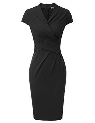 GRACE KARIN pennfodral Rockabilly vintage klänning dam kort ärm CL2037