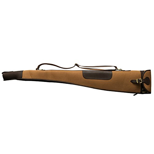 TOURBON Vintage Hunting Gun Carrying Bag Slip Shotgun Case 50' - Canvas and Leather