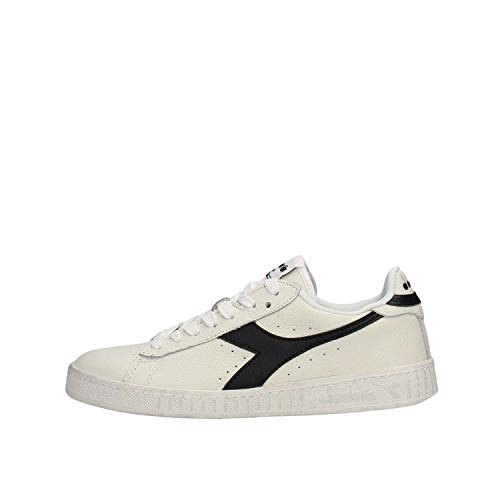 Diadora Game L Low Waxed, Sneaker Unisex Adulto, (Bianco/Nero C0351), 45 EU