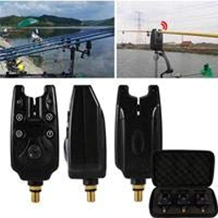 Amazon.com: 3Pcs Black Wireless Fishing Bite Alarm Sound LED ...