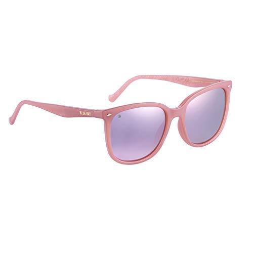 BLUE BAY ELUSOR, Gafas de Sol Polarizadas para Mujer, Protección UV 100%, Actividades al Aire Libre, Gafas de Sol de Material Reciclado, Ligeras y Flexibles, Montura Rosa y Cristales Rosas, 23 gramos