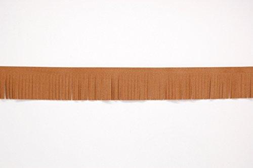 1 metro piel sintética ante borla cortada