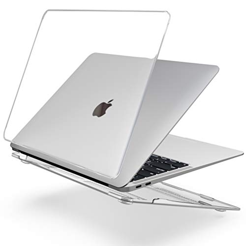 SLEO Custodia Crystal per Apple MacBook Air 2018 13.3 Pollici Modello A1932 - Cover Snap On Liscio Sottile e Resistente - Trasparente