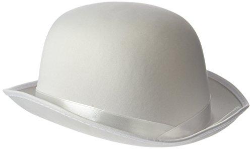 Rire Et Confetti - Fiedis065 - Accessoire pour Déguisement - Chapeau Melon Blanc