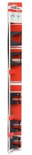 Toolflex Wandschiene 90cm mit Halterset für Gerätestiele wie Spaten,Schaufel und Besen